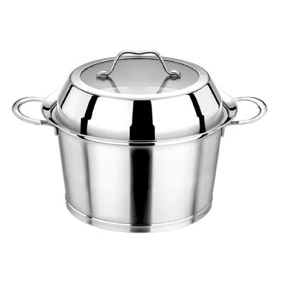 瑞诚不锈钢单层蒸锅复底汤蒸锅两用锅304加厚不锈钢