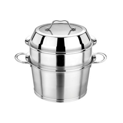不锈钢二层蒸锅304汤蒸锅2层蒸笼格加厚复底煲汤多用锅电磁炉