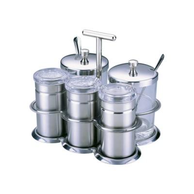 瑞诚不锈钢调味盒套装调料罐盐罐油盅调料瓶五件套装