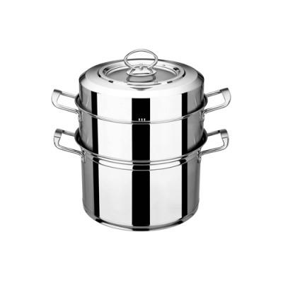 瑞诚 不锈钢蒸锅 多层 高升二层蒸锅 蒸鱼锅 加厚三层复合底