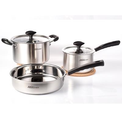 全能三件套 汤锅、奶锅、煎锅