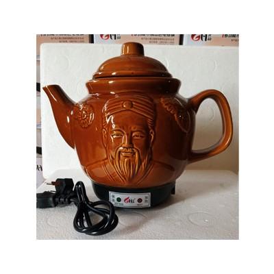 陶瓷电热药壶(深棕)
