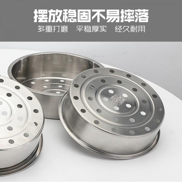 不锈钢蒸笼格304无磁加厚加深大孔美的苏泊尔电饭煲蒸汽笼蒸篮001 (1)