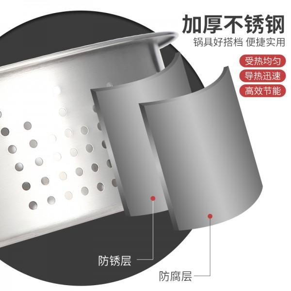 加厚不锈钢304家用蒸格全孔无磁蒸笼格美的苏泊尔电饭煲蒸汽笼003 (2)