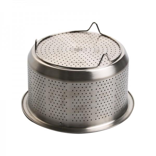304不锈钢无磁蒸笼格蒸篮蒸饭器加厚加深高压锅蒸汽笼水果篮提篮 (2)