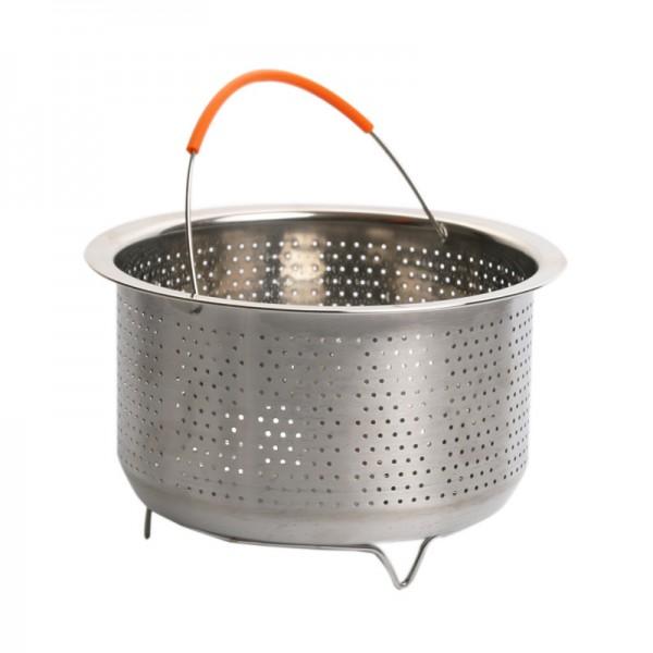 304不锈钢无磁蒸笼格蒸篮蒸饭器加厚加深高压锅蒸汽笼水果篮提篮
