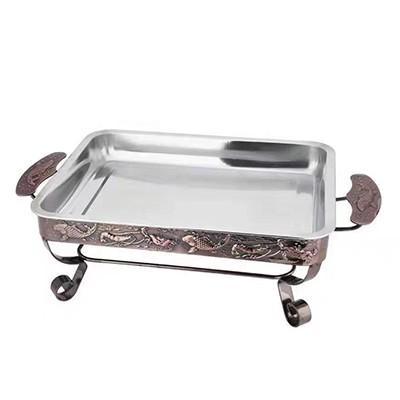 酒精木炭碳烤长方形烤鱼炉2