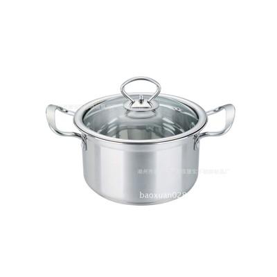 不锈钢 钢耳欧式汤锅