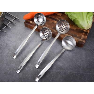 厂家现货不锈钢创意挂壁式火锅汤勺漏勺多功能家用抛光火锅汤壳