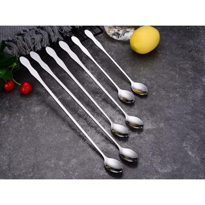 不锈钢加长冰勺 长柄搅拌勺 酒吧调酒勺 葫芦柄冰勺