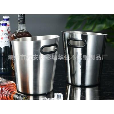 厂家直销不锈钢创意斜口冰酒桶 夜店KTV酒吧手提便携式冰酒桶