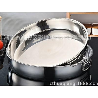 厂家直销不锈钢盘 凉皮盘 糕盘 圆形盘