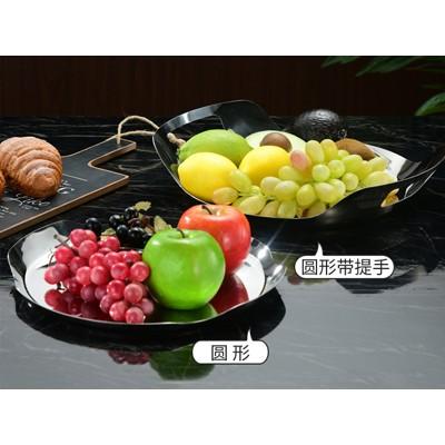 厂家直销创意北欧不锈钢托盘杯垫水果盘茶具摆盘置物盘