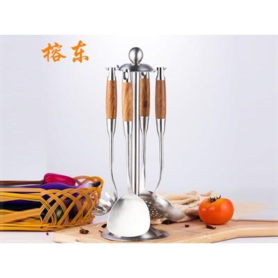 304花梨木不锈钢炒菜铲漏勺汤勺铲花梨木防烫厨具