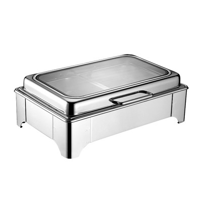 长方形液压式玻璃盖高级餐炉(矮脚)