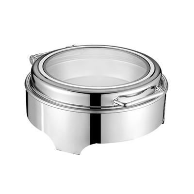 圆形液压式玻璃盖高级餐炉(矮脚)