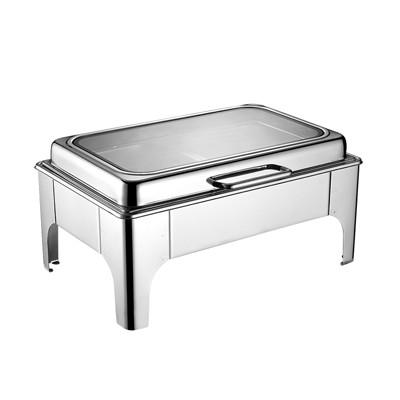 长方形液压式玻璃盖高级餐炉