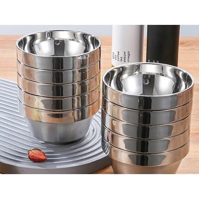 不锈钢双层隔热碗